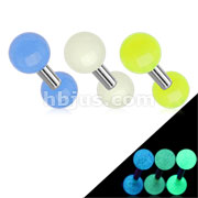 316L Surgical Steel Tragus/Cartilage Barbell with Glow In The Dark Ball 60pc Pack (20pcs x 3 colors)