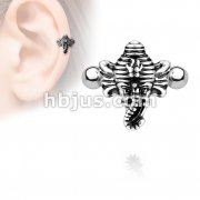 Elephant Ear Cartilage/Helix Cuff 316L Surgical Steel Barbells