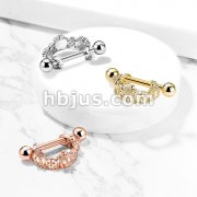 Triple Crown Helix Cuff with 316L Surgical Steel Barbell
