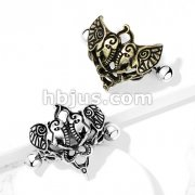 Two Elephants 316L Surgical Steel Nipple Shield Ring