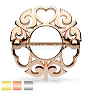 Tribal Hearts Hollow Nipple Shield with 316L Surgical Steel Barbell