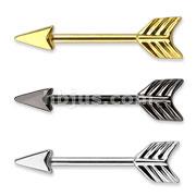 Arrow 316L Surgical Steel Nipple Bar