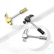 Claw Hammer 316L Surgical Steel Nipple Barbell Ring