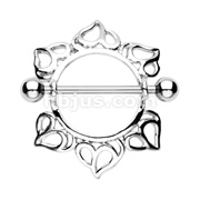 Heart Engulf Nipple Shield Ring 316L Surgical Steel
