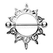 Shining Star Nipple Shield Ring 316L Surgical Steel