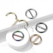 316L Surgical Steel Dual Hinge Nipple Ring