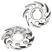 Clip On Nipple Ring Tribal Swirl