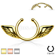 Non-Piercing Clip On Nipple Ring / Angel Wings
