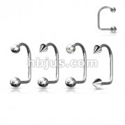 Assorted Best Selling 316L Surgical Stainless Steel Lippy Loop 80pc Pack (20pcs x 4 styles)