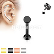 Round Top Internally Threaded 316L Surgical Steel Labret, Monroe, Cartilage Studs