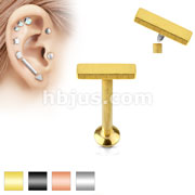 2mm x 6mm Bar Top Internally Threaded 316L Surgical Steel Labret, Monroe, Cartilage Studs