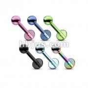 Titanium IP over 316L Surgical Stainless Steel Labret /Monroe 120pc Pack (20pcs x 6 colors)