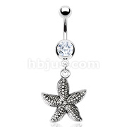 Starfish Vintage Casted Navel Ring 316L Surgical Steel