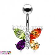 Two Tone Butterfly Navel 316L