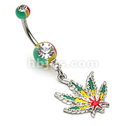 Jamaican Pot Leaf with Jamaican Gem Ball Ends