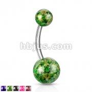 BNNA w/Fossil Balls 316L Surgical Steel
