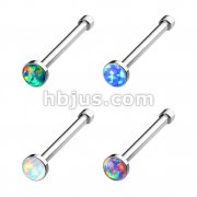 80 Pcs Cabochon Opal Set 316L Nose Stud Bulk Pack (20 pcs x 4 Colors)