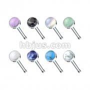 160 Pcs 20 gauge Semi-Preciouse Stone Set 316L Surgical Steel Nose Bone Stud Bulk Pack (8 Colors x 20 Pcs)