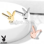 Playboy Bunny Top 316L Surgical Steel Nose Bone Stud Rings