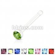 Gemmed Clear Acrylic Nose Bone Stud