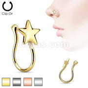Star Non Piercing Ion Plated Brass Nose Clip