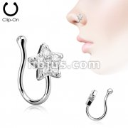 Star CZ Paved Non Piercing Nose Clip