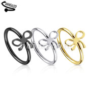Ribbon IP Over 316L Surgical Steel Nose Ring