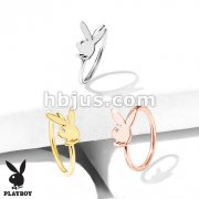 Playboy Bunny Top All316L Surgical Steel 20 Gauge Bendable Hoop Nose Rings