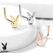Playboy Bunny Top 316L Surgical Steel Nose L Ben Stud Rings