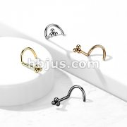 3 Ball Cluster Top 316LSurgical Steel Nose Screw Rings