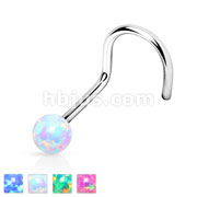 Opal Ball 316L Surgical Steel Nose Screw