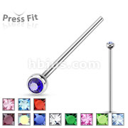 Fishtail 316L Surgical Steel w/ Press Fit Autoclavable Nose Stud