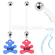 Baby Bear Dangle Bio Flex Pregnancy Navel Ring