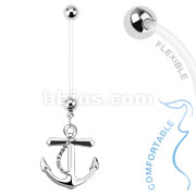 Anchor Dangle Bio Flex Pregnancy Navel Ring