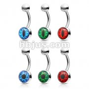 60 pcs Eyeball Inlaid 316L Surgical Steel Belly Rings Bulk Pack (10 pcs x 6 Styles)