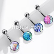 AB Effect Fish Scale Set 316L Surgical Steel Belly Button Navel Rings