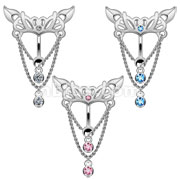 Chain Drop Chandeliar Hinge Anction Reverse Belly Rings
