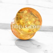 Imitation Amber Double Flare Solid Saddle Plugs Bulk Pack