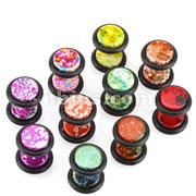 Metallic Splatter Fake Plugs with O-Rings 100pc Pack (10pcs x 10 colors)