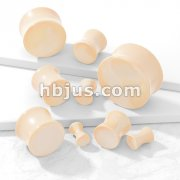 Flesh Tone Acrylic Solid Saddle Plugs
