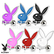 Epoxy Playboy Bunny 316L Surgical Steel Cartilage/Tragus Barbell