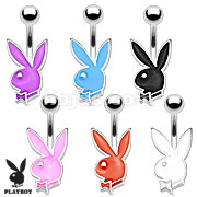 Playboy Bunny Epoxy 316L Surgical Steel Petite Navel Ring
