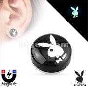 Playboy Bunny Logo Top Dome Acrylic Non Piercing Magnetic Plug