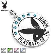 Playboy logo with Colored Gems