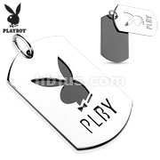 Two Tone Cut Out The Bunny Stainless Steel Playboy logo Pendant