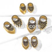 Tribal Filigree Gold Plated Copper Ear Spreaders