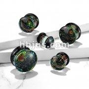 Multi Color Sparkle Galaxy Double Flared GlassPlugs
