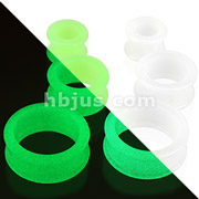 Double Flared Tunnel Glow in the Dark Silicone Flexible Plug