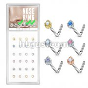 24 Pcs Tear Drop Prong Set Opal Center