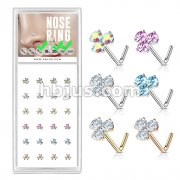 24 Pcs Round CZ Prong Set Triangle